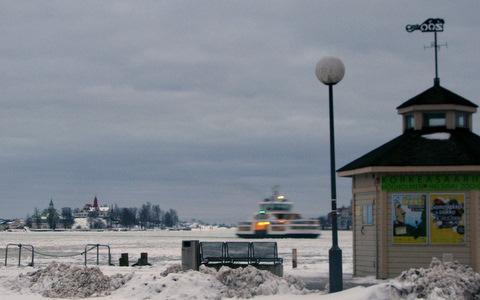A ferry in Helsinki